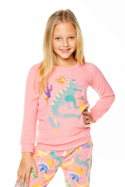 LADY DINO GIRLS LOVE KNIT RAGLAN PULLOVER - T. Georgiano's