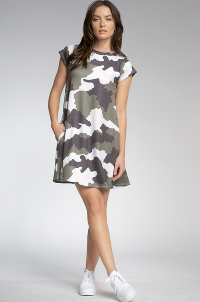 Sweatshirt Camo Dress - T. Georgiano's