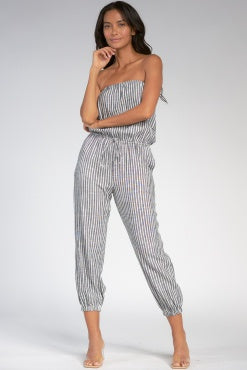 LLS7082 Stripe Jumpsuit - T. Georgiano's