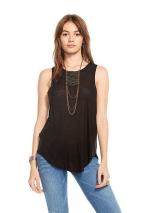 Chaser Silk Cross Over Tank