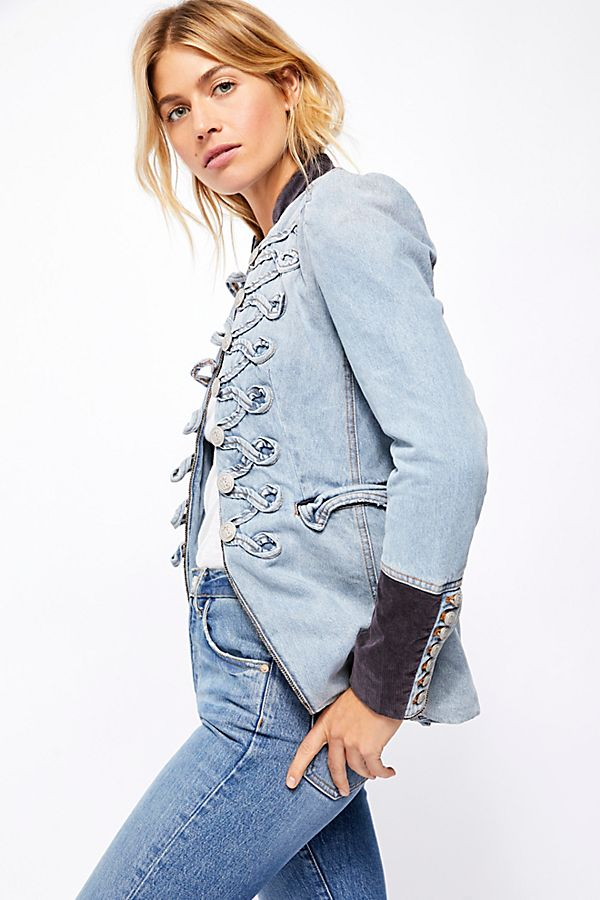 Denim Seamed and Structured Jacket - T. Georgiano's