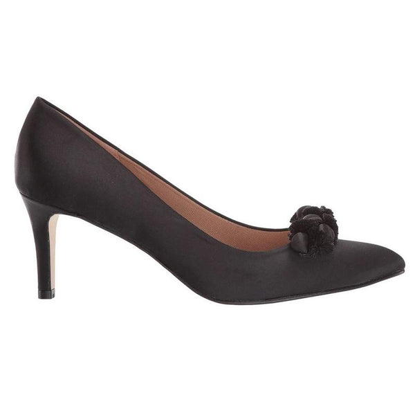 Erie Black Satin Pump - T. Georgiano's