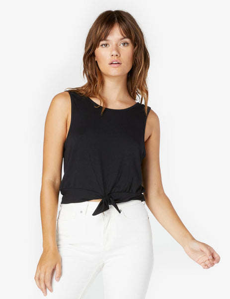 LK4505 Knot A Problem Cropped Tank - T. Georgiano's