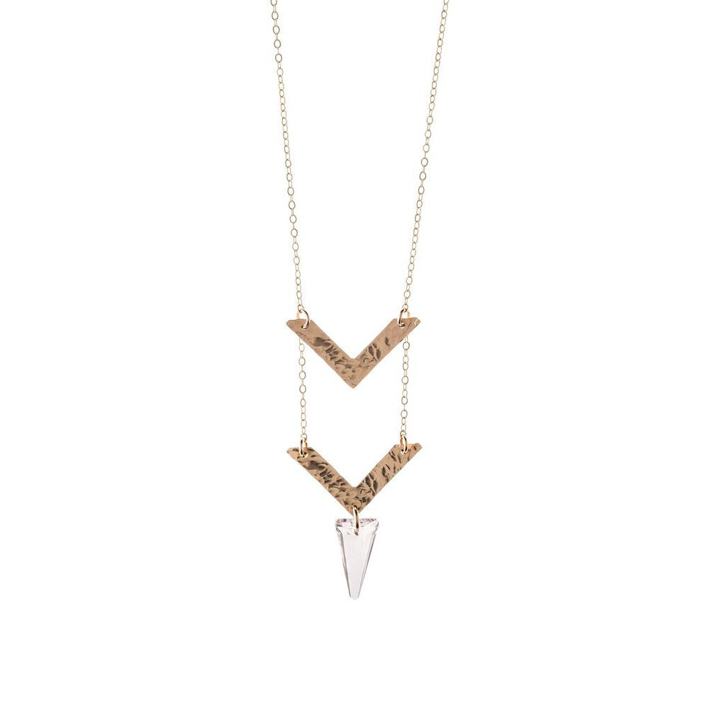 Chevron Necklace - T. Georgiano's