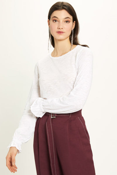 Bishop Ruffle Sleeve Blouse