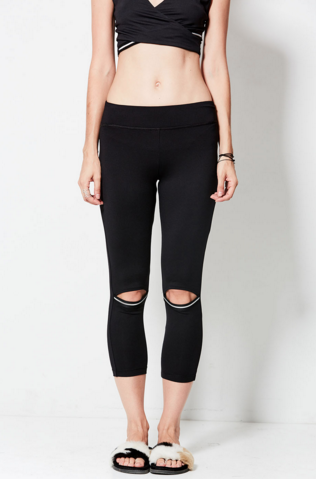 NESH NYC Activate Crop Peek A Boo Legging - T. Georgiano's
