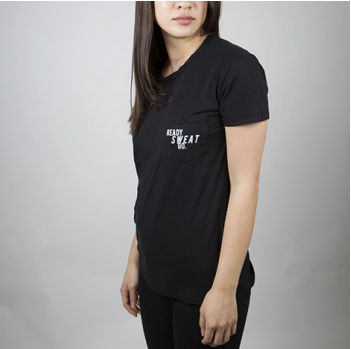 good hYOUman Ready.Sweat.Go AUSTEN Tee in Black Sand - T. Georgiano's