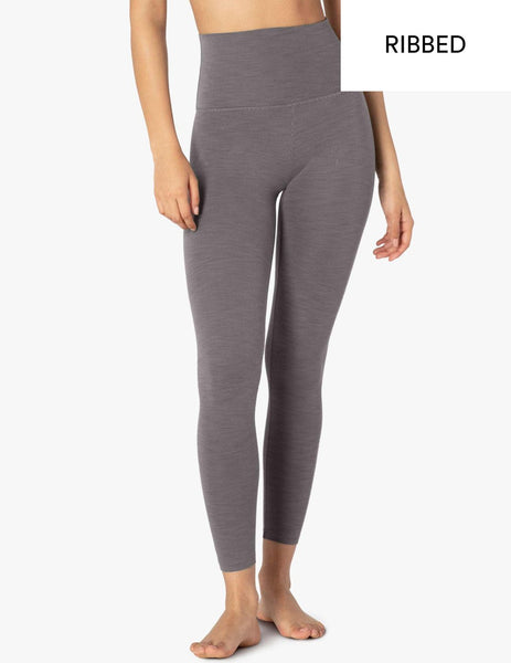 Heather Rib High Waisted Midi Legging - T. Georgiano's