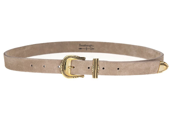 Taupe Chloe Hip Belt - T. Georgiano's