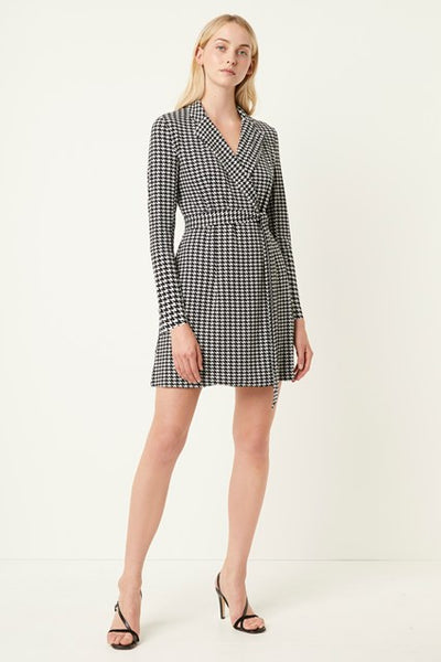 Sadira Houndstooth Blazer Dress