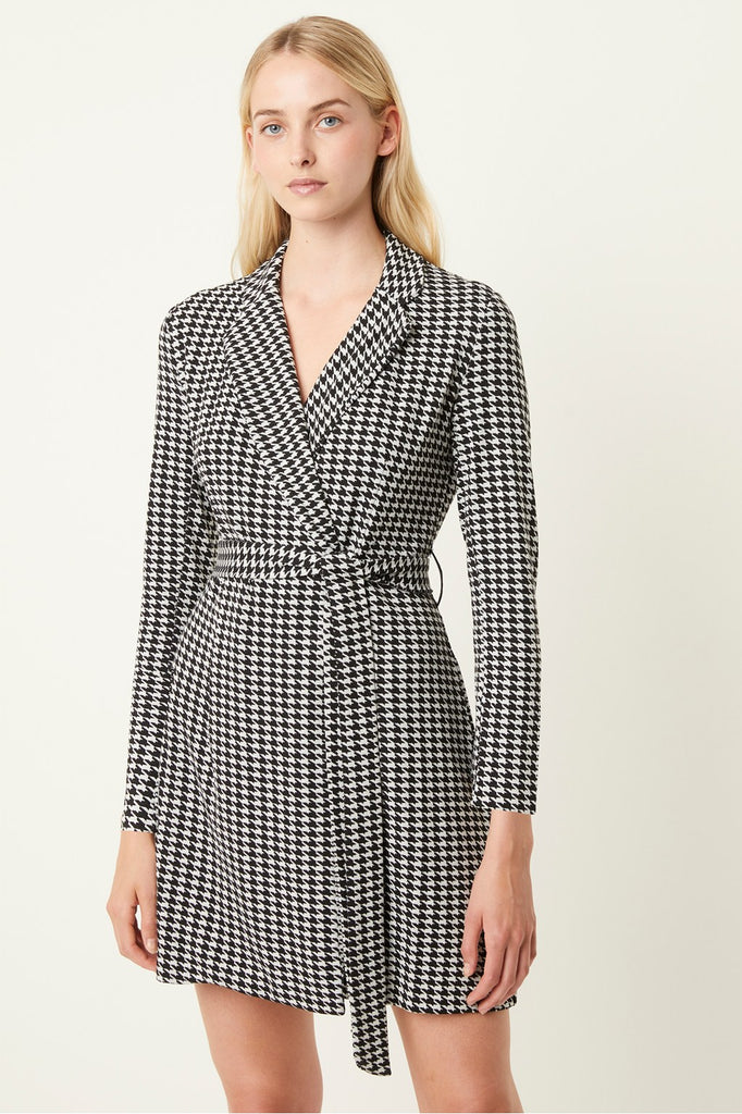 Sadira Houndstooth Blazer Dress - T. Georgiano's