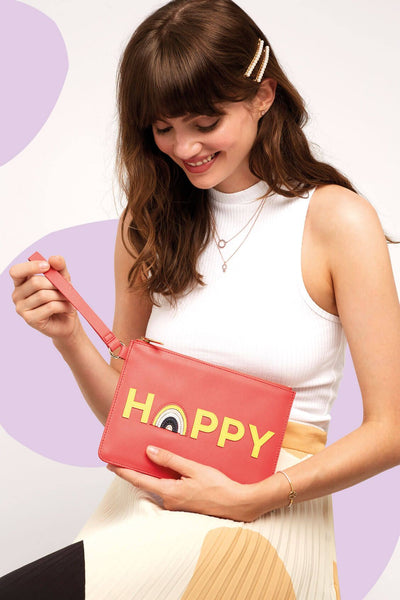 EBP4112 HAPPY APPLIQUE MEDIUM CLUTCH - T. Georgiano's