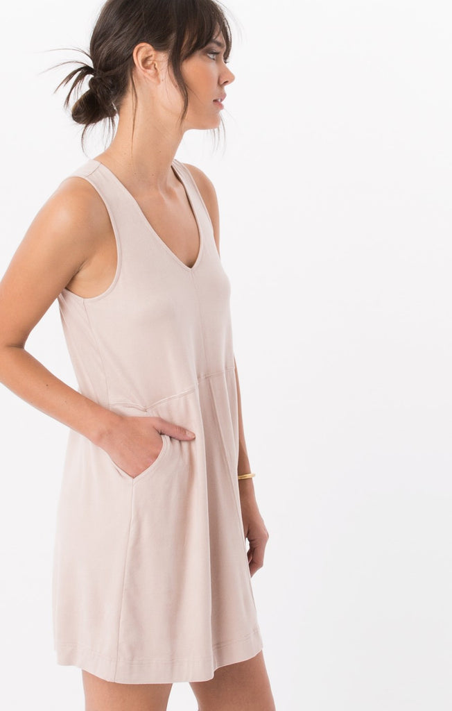 Z SUPPLY The Suede V-Neck Dress - T. Georgiano's