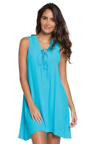 Elan Lace up Dress - T. Georgiano's