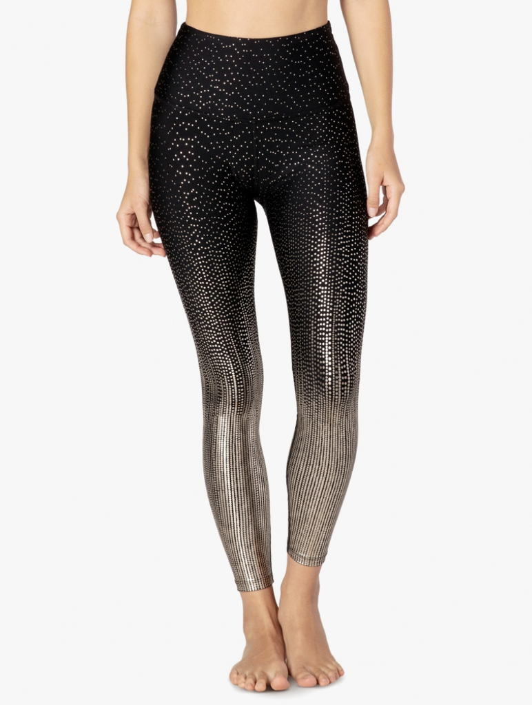 DR3243 Drip Dot High Waisted Midi Legging - T. Georgiano's