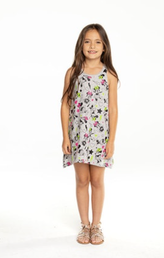 CHTW101-MIN037 GIRLS COTTON JERSEY TANK DRESS - T. Georgiano's
