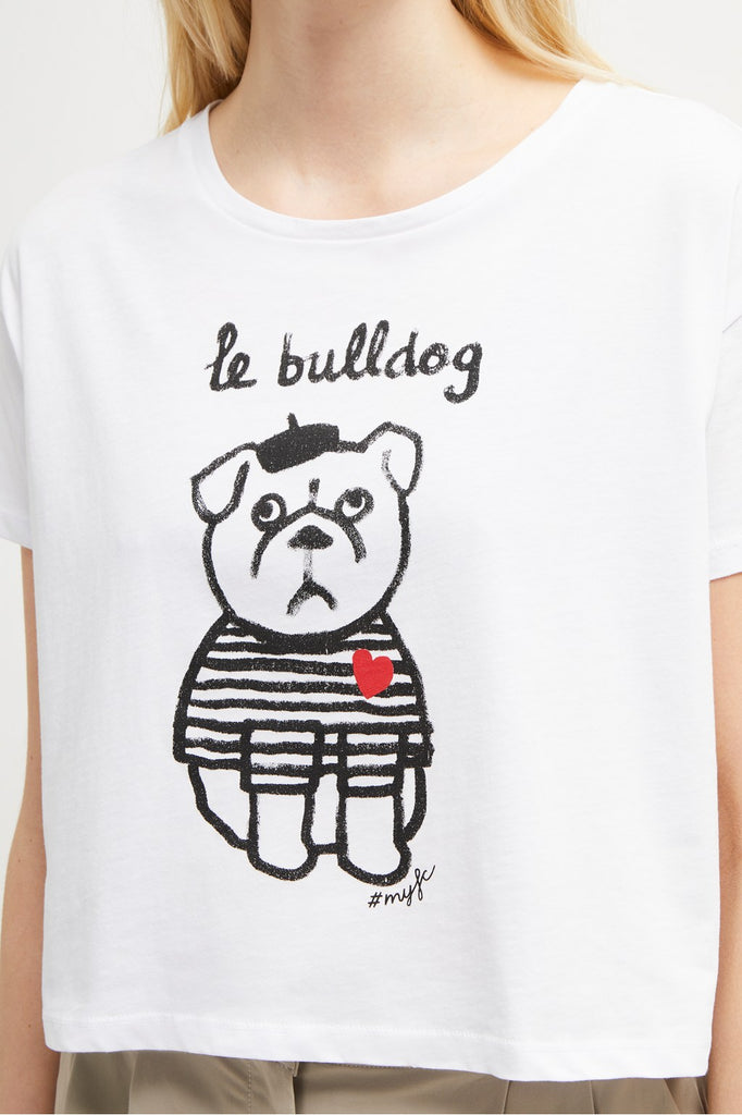 Le Bulldog Cropped Tee - T. Georgiano's