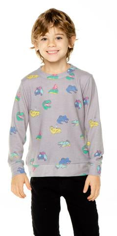 CB1111 Chaser Dino Friends Cozy Knit Pullover - T. Georgiano's