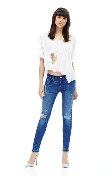 Hudson Jeans Krista Ankle SS W/ REL Hem- Chain Reaction