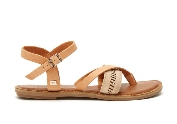 TOMS Sandstorm Leather Metallic Lexie Sandal