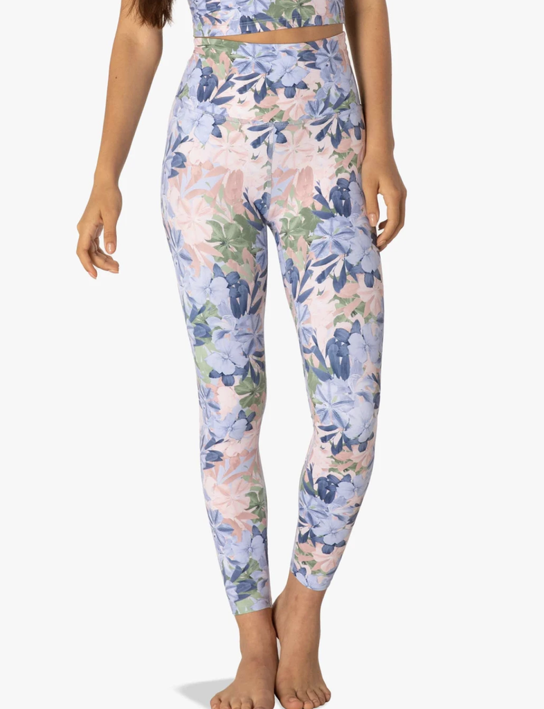 Olympus High Waisted Midi Legging Botanical Bouquet - T. Georgiano's