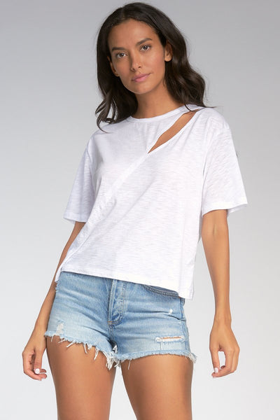 Short Sleeve Slit Front Tee - T. Georgiano's