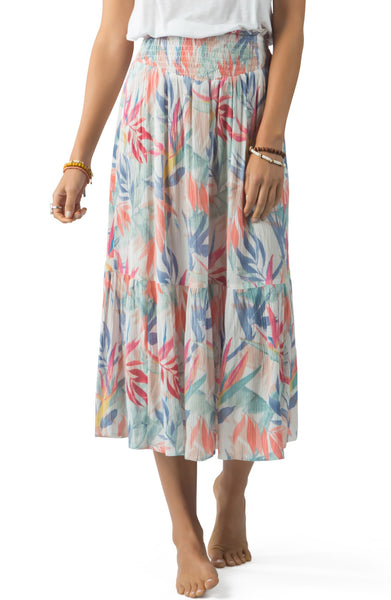 Sea Breeze Tiered Maxi Skirt