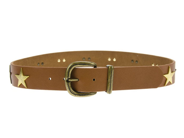 Cognac Stardust Hip Belt - T. Georgiano's