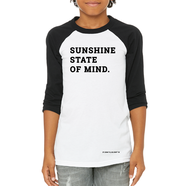 Sunshine State of Mind Youth Baseball Tee
