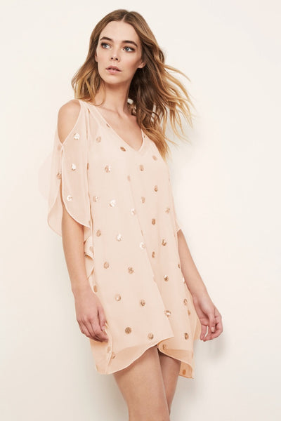 Three Eighty Two Lara Cutout Caftan Mini