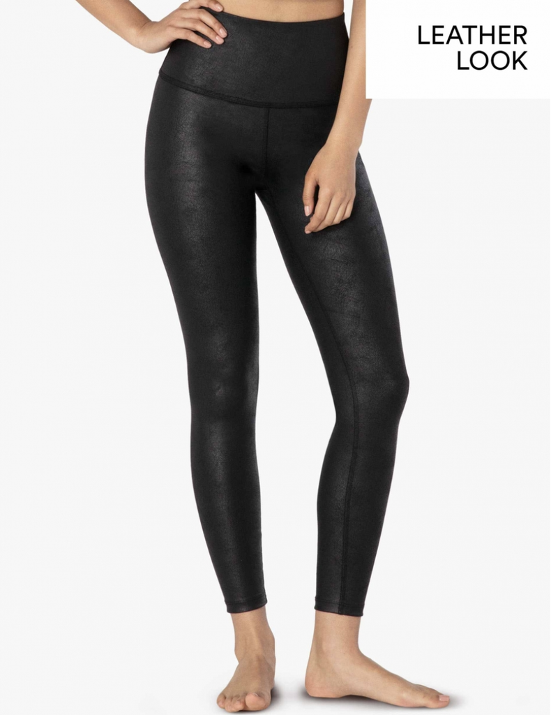 LUXE LEATHERETTE HIGH WAISTED MIDI LEGGING - T. Georgiano's