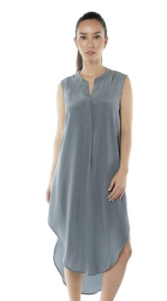 Acrobat Hi-Lo Silk Dress