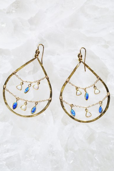 Gemini Hoop Earrings - T. Georgiano's