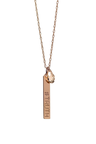 Truth Hanging Necklace - T. Georgiano's
