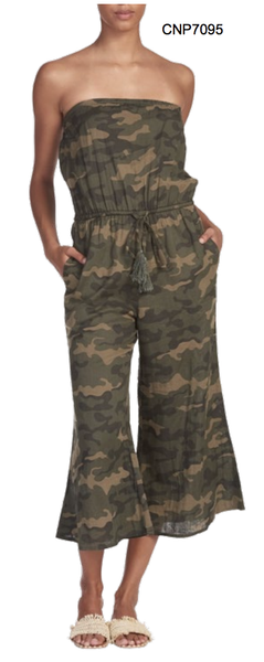 Camo Coulotte Romper - T. Georgiano's