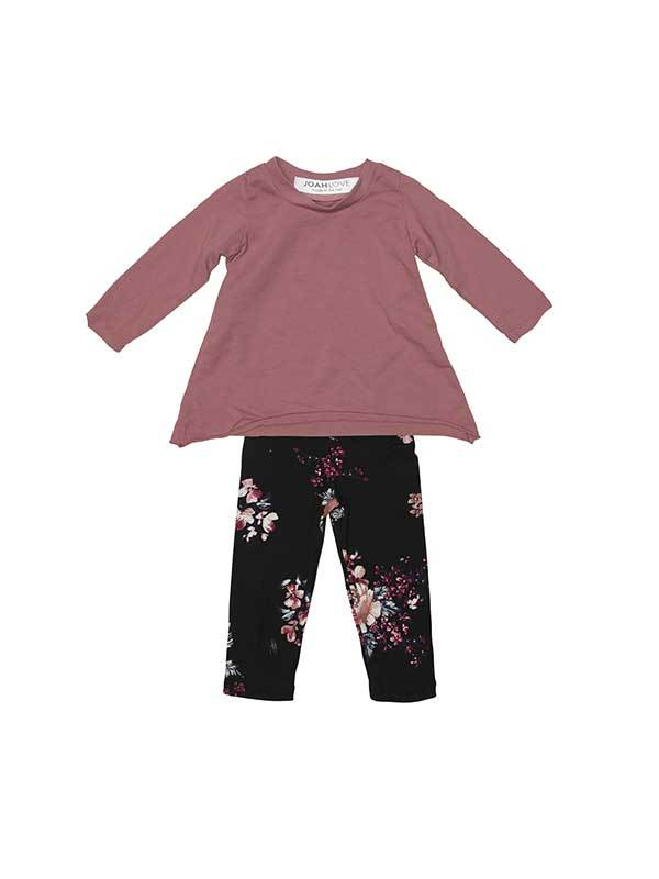 Joah Love Angel Set Girl's Tee w/flower legging - T. Georgiano's
