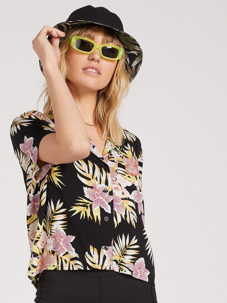 Gen Wow SS - Black Floral Print - T. Georgiano's