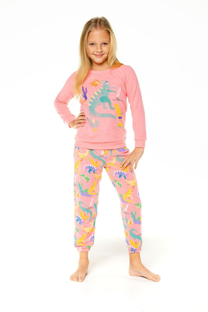 LADY DINO GIRLS LOVE KNIT COZY SWEATPANT
