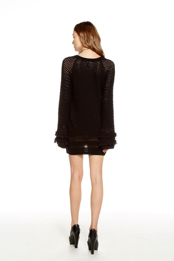 Chaser Fringe Bell Sleeve Pullover Tunic