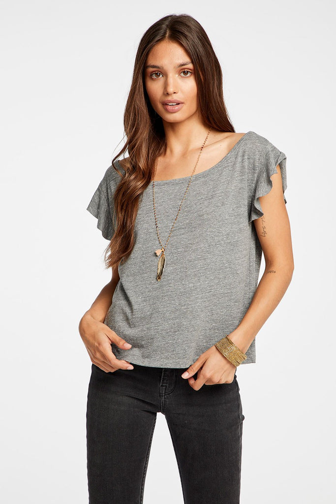 Cropped Flutter Sleeve - T. Georgiano's