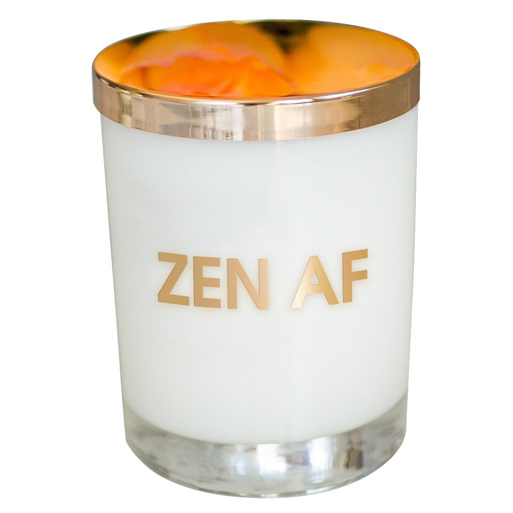 ZEN AF CANDLE - GOLD FOIL ROCKS GLASS - T. Georgiano's