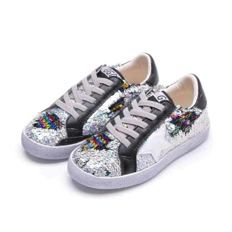 Sequin Flip Star Sneakers - T. Georgiano's