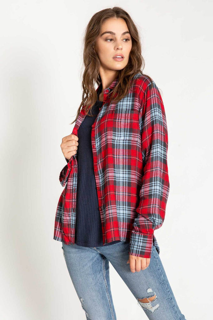 Snowed in L/S Plaid - T. Georgiano's
