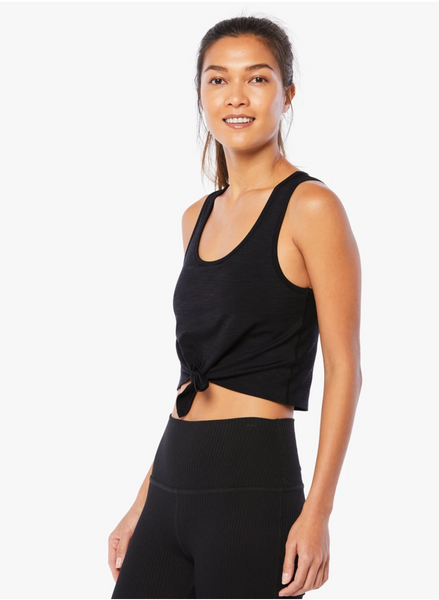 Heather Rib Lounge Cropped Tank - T. Georgiano's