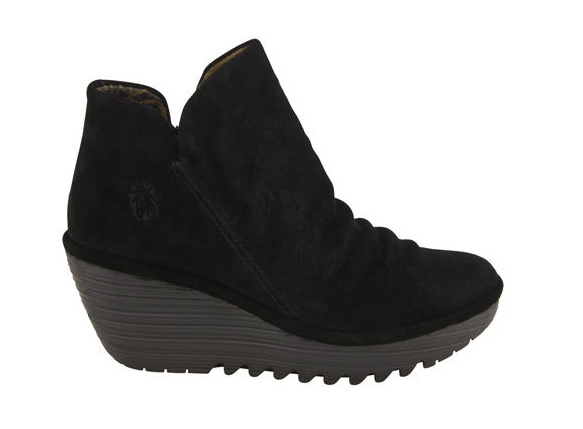 Fly London Yip Black Suede  Boot - T. Georgiano's