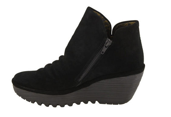 Fly London Yip Black Suede  Boot