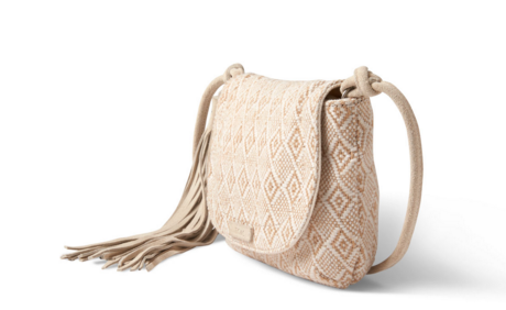 TOMS Natural Woven Mix Tassel Crossbody - T. Georgiano's