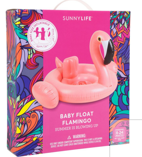 SUNNYLIFE Baby Float Flamingo