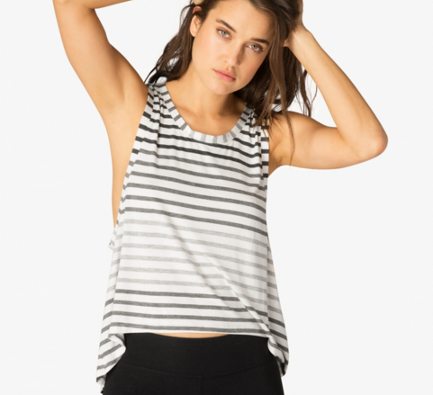 Beyond Yoga Bring It Ombre Striped Muscle Tank