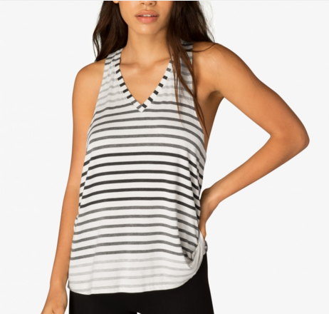 Beyond Yoga Bring It Ombre Striped Racer Tank